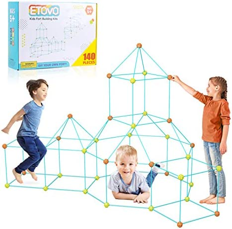 ETOVO Kids Fort Building Kit 140 Pieces Ultimate Construction Fort Builder Kits Gift Toys for product image