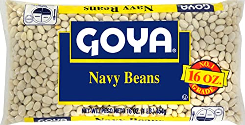 Goya Foods Dry Beans Bag, Navy, 1 Pound (Pack of 24)
