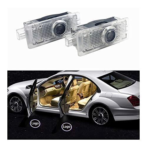 Autotür Willkommen Licht 2 PCS-Auto-Tür-Lichter LED Logo kompatibel mit Mercedes Benz-Geist-Schatten Auto Emblem Courtesy Schritt Leuchtet kompatibel mit CLS Cla CLK-Serie Willkommenes Licht