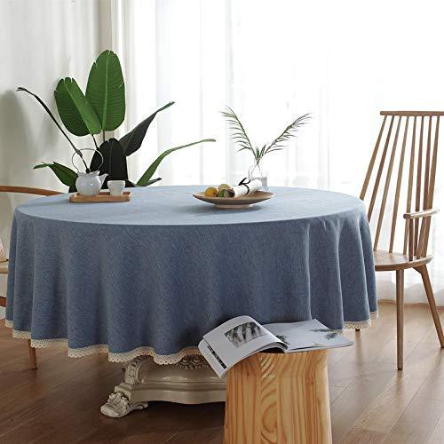 NHhuai Tela de Tabla Antideslizante del algodón del Poliester Cubierta Simple de la Tabla de la Manera Encaje de Color Liso
