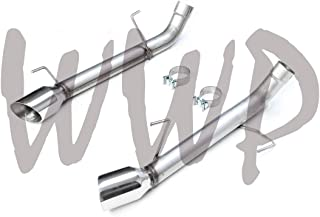 Performance Stainless Steel SS SS409 3 Dual Axle Back Exhaust No Muffler System Kit Polished Tips Compatible With 15-18 Dodge Charger SRT Hellcat R//T Scat 392 6.2L 6.4L V8