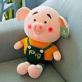 GBN 85 cm Enfant en Peluche Coton poupée Cochon en Peluche Jouet pour accompagner bébé Dormir Doux poupée Fille Enfant Cadeau 85 cm Orange
