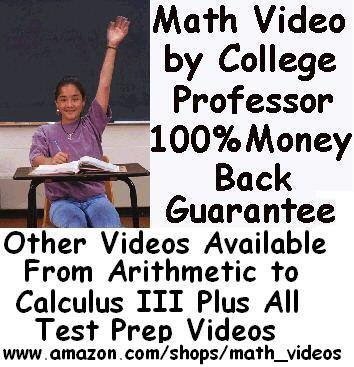 Calculus 3 DVDs By College Math Professor-Over 47 Hours http://www.amazon.com/shops/math_videos