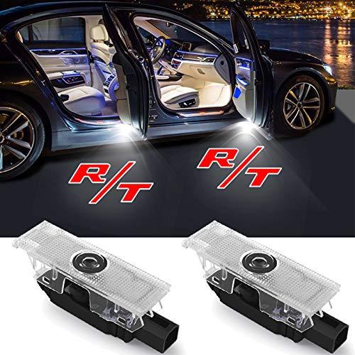 2-4 Pcs for Dodge Challenger SRT Scat Pack Demon Charger LED Car Door Light 12V RT R/T Logo Courtesy Welcome Light Projector Car Door Light (Color : 2 Pieces, Emitting Color : R T Logo)