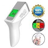 NURSAL Fieberthermometer, Infrarot Stirnthermometer Digital Thermometer - für Baby Kinder Erwachsene,Professionelle Medizinisches,Fieberwarnung, CE/FDA Zertifiziert (NEW) -
