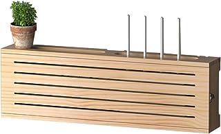 Caja De Almacenamiento De Enrutador Decodificador Rack Sin Perforaciones De Madera Maciza WiFi Inalámbrico Estante Flotant...