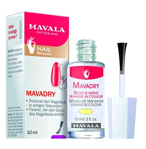 Mavala Mavadry, Nagellack-Schnelltrockner, trocknet den Nagellack und intensiviert die Farbe, 10 ml