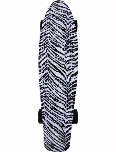 FISH Skateboard Zebra Animal Print Retro Plastic Cruiser Stereo