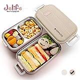 Jelife Bento Box Lunch Box 2 Livelli Lunch Box Stile Giapponese con Scomparto per...