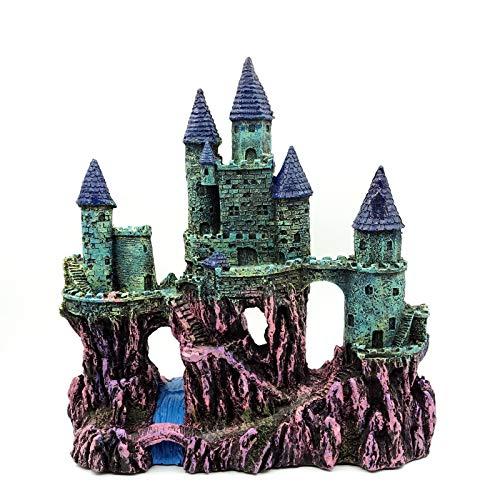 Miracliy Fish Tank Decorations Castle, Aquarium Ornament Super Castle, 10''
