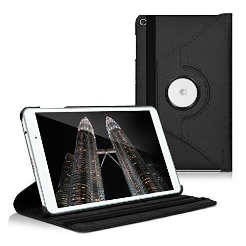 kwmobile Funda Compatible con Huawei MediaPad T2 10.0 Pro - Carcasa de Cuero sintético para Tablet en Negro