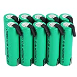 Tenergy 10 Pack NiMH AA 2000mAh Flat Top Rechargeable Batteries w/Tabs