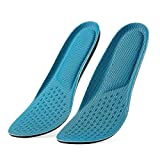 Bottokan Memory Foam Insoles for Women - Shock Absorption Enhanced Pressure Relief Insoles for Running and Sports Shoe Inserts-Foot Massage Insoles for Daily Use-Sweat Absorption Breathable Insoles