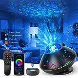 2021 LED Alexa DIY Proyector Estrellas, Control de voz de Automatización del Hogar Inteligente, Control Remoto, Ajuste de Color RGB, 43 Modos Proyector Estrellas, WIFI Proyector Estrellas