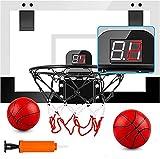 PELLOR Canestro Basket per Bambini e Adulti, Mini Canestro Basket Kit con Elettronico Punteggio Record, Tabellone Basket da Camera Interno per Ufficio Famiglia,Basket Ragazzi Ragazze