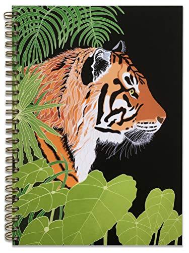Tiger Print - Cuaderno o planificador encuadernado en espiral