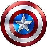 PRETAY Capitán América Shield Réplica De Marvel Prop Escudo Capitan America Superhéroe Retro Disfraz Escudo 32CM 1: 1 Adulto Apoyos de PelíCula NiñOs, Talla única