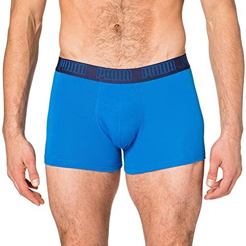 PUMA Basic Pack de 2 Calzoncillos, Azul (True Blue), L Hombre