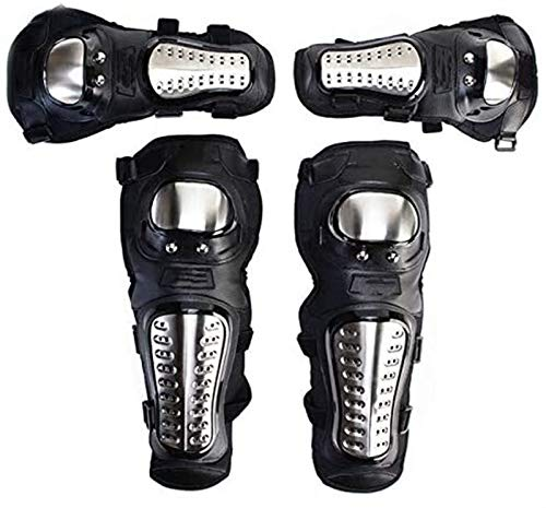 GZA Almohadillas Térmicas de Rodilla de Invierno Almohadillas De Rodilla Ajustables Motocross Motocicleta Patinaje Patinaje Ski Knee Pads Knee Pads Soporte Negro Set