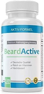 Cápsulas de Crecimiento de la Barba - MADE IN GERMANY - 120 Cápsulas con Biotina Calcio y Vitamina B2 y B12 - 100% NATURA...