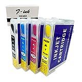 Hemei@ T128 Cartuchos de tinta vacíos y recargables para impresoras de Epson Stylus S22 SX125 SX130 SX235W SX420W SX440W SX430W SX425W SX435W SX438 SX445W BX305F SX230 T1285 (4 unidades)