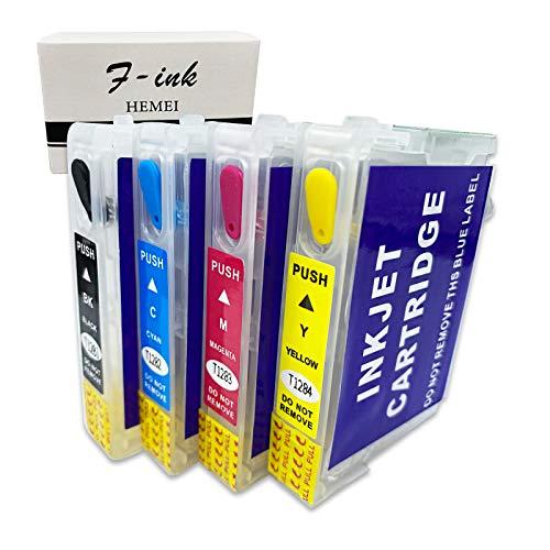 Compatibile con Epson T128 T1285, la cartuccia di inchiostro riutilizzabile funziona con Stylus S22 SX125 SX130 SX235W SX420W SX440W SX430W SX425W SX435W SX438 SX445W BX305F SX230 stampanti