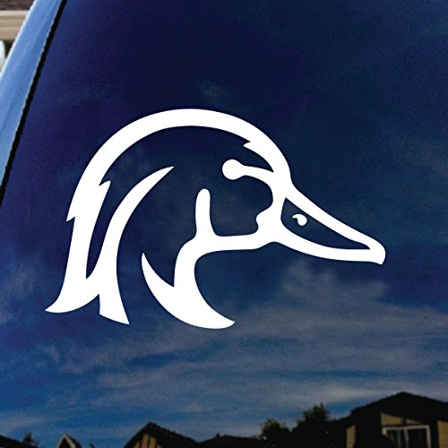 "SoCoolDesign Wood Duck Car Window Vinyl Decal Sticker 5"" Wide (White)"