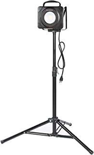 EverBrite LED Work Light 3000 Lumens Super Bright Lights with Telescoping Tripod Stand Lamps and 5 Ft Power Cord