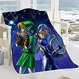FOCLKEDS The Legend of Zelda Baby Blanket The Legend of Zelda Movie Characters Microfiber Blanket Super Soft All Season Blanket 60'x50'