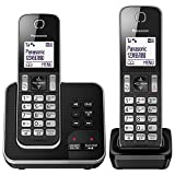 Panasonic KX-TGD322EB Cordless Home Phone with Nuisance Call Blocker and Digital Answering Machine - Pack of 2