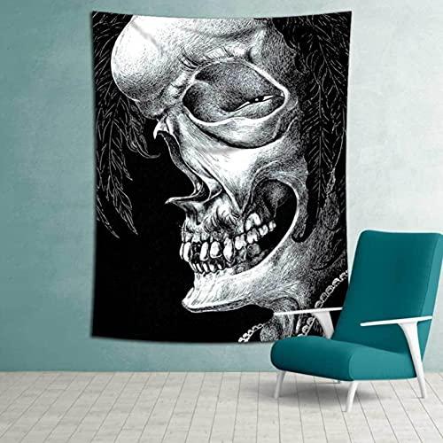 Tapiz De Pared Paño Colgante Decoración De Pared Tapices Dormitorio Sala De Estar Dormitorio Cortina Toalla De Playa Manta 79X59 Pulgadas Esqueleto Creativo