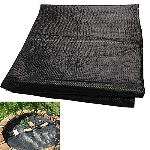 Speyang 2 X 5 m Anti-Unkrautgewebe, Verschleißfest Unkraut Barrier, Reißfestes Bodendecker für Unkraut, Unterbodengewebe Bändchengewebe Unkrautfolie, Wasserdurchlässig Hohe UV Stabil 100g/m²