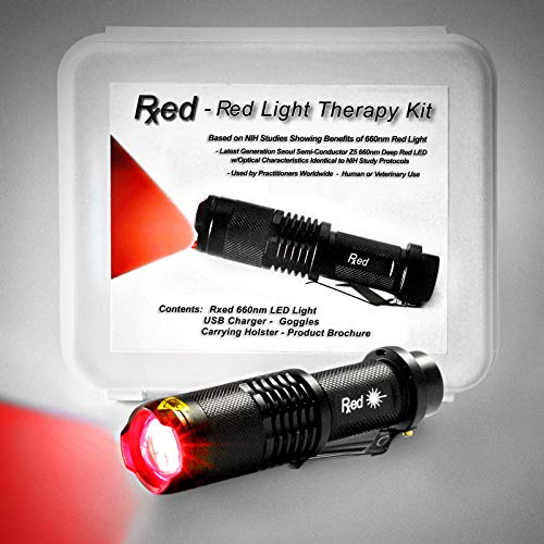 Rxed - 660nm Red Light Therapy Kit - Based on Parameters of NIH Studies of Red Light Therapy