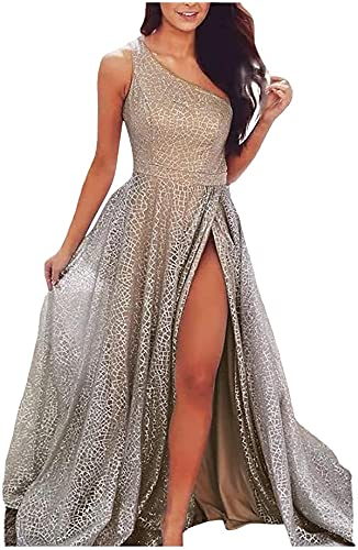 Midi Length Dress for Women Elegant Princess Dresses Sleeveless Shining Sequin Small Tail Dress Cocktail Party Gown
