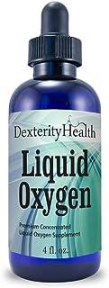 Dexterity Health Liquid Oxygen Drops 4 oz. Dropper-Top Bottle, Vegan, All-Natural and..