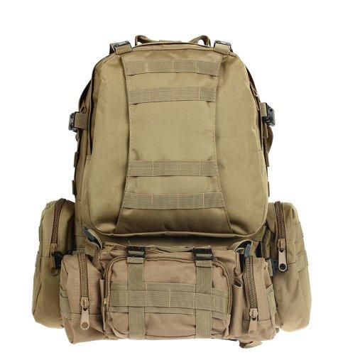 Kit Mochila Tactica Militar Camping Viaje Supervivencia Every Day Carry Caqui