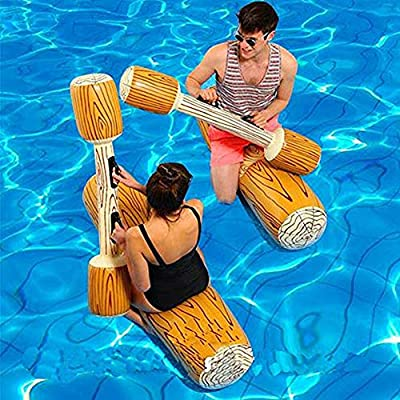 RITONS 2 Pcs Set Inflatable Floating Row Toys, Adult Children Pool Party Water Sports Games Log Rafts to Float Toys