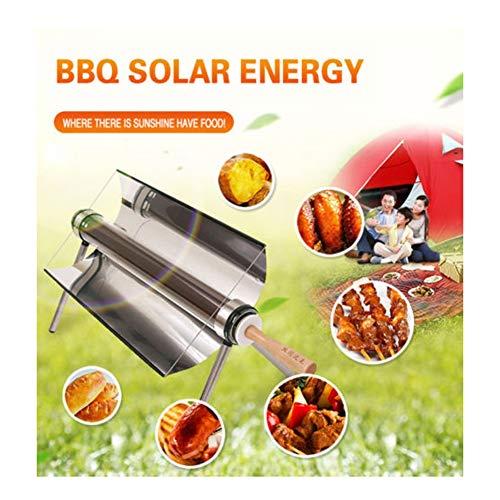 BBQ-- Horno Solar Portable Parrilla Barbacoa Estufa Portátil Solar Horno Sun Cooker Barbacoa Grill Humo Inoxidable Plegable Barbacoa, Fácil, Delicioso y versátil para 1-2/3-5 Personas