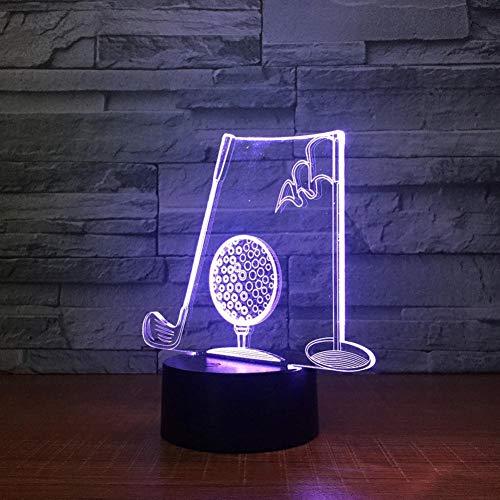 Leeypltm Led-nachtlampje in golfbal, 7 kleuren, touch-control, USB-oplader, als decoratieve woonkamer slaapkamer, en als verjaardagscadeau