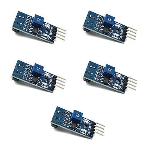 Homengineer 5X Reflektive Lichtschranke IR Linetracker Kontrasterkennung TCRT 5000 mit Analog und Digitalausgang f Arduino Raspberry Pi etc