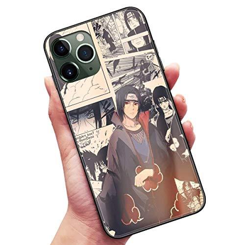 Anime Naruto Uchiha Itachi Madara Funda de vidrio templado para iPhone 6 6S 7 8 Plus X XR XS Max 11 12 Pro Max Mini SE 2020 Cartoon Manga Cómic Cover Coque (4, iPhone 6 6S)