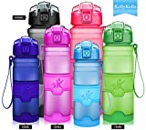KollyKolla Botella de Agua Deporte, Botellas Sin BPA Tritan Plástico Reutilizables...