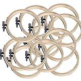 Cerceau à broder Set Bambou Cercle Point De Croix Anneau Pour Bricolage Art Craft Handy Couture Cerceaux Arts...
