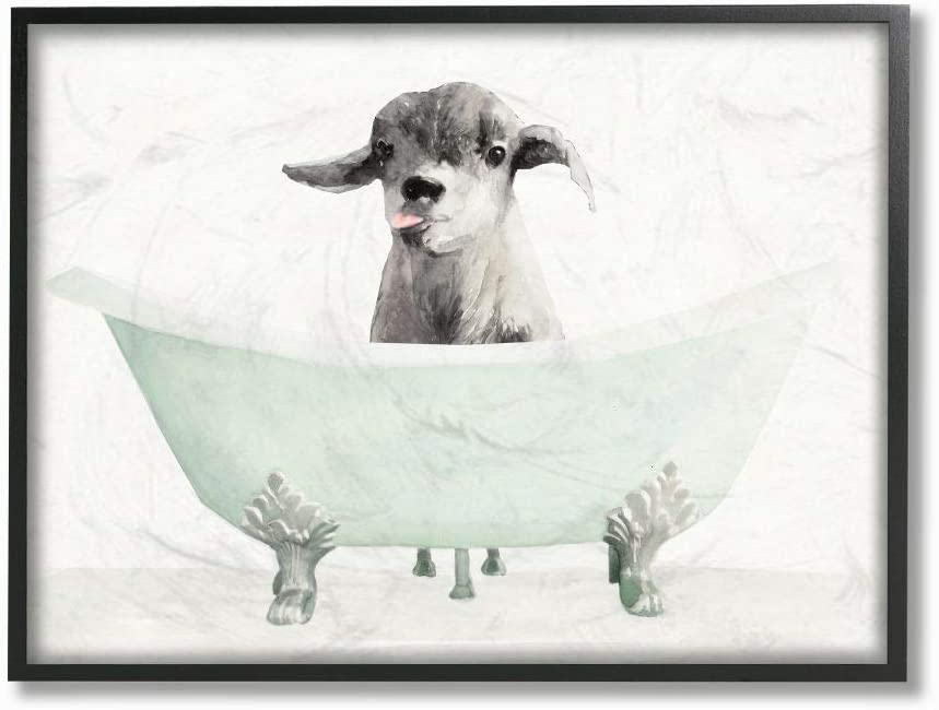 Stupell Industries Baby Llama in A Dra Tub Funny Cheap SALE Start Super sale period limited Bathroom Animal