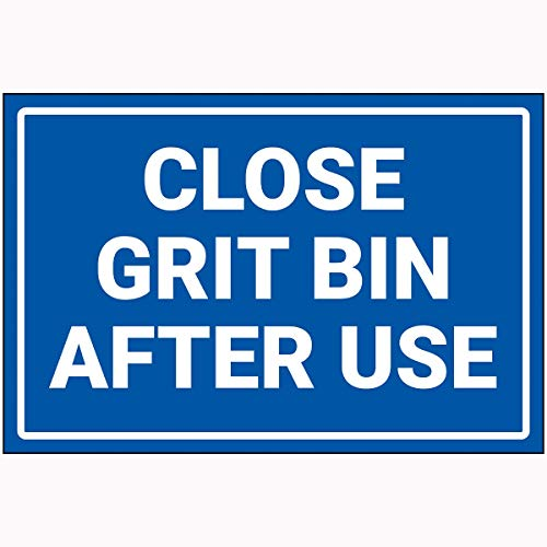 Preisvergleich Produktbild V Safety 72107BA-RB VSafety Close Grit Bin After Use Sign 300 mm x 200 mm 2 mm Hartplastik,  blau