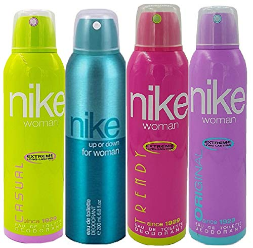 Nike Women's Deo, Pack of 4 (Casual, Up or Down, Trendy and Original)
