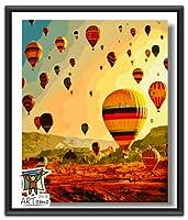 ARTomo【アトモ】パズル油絵『フレーム付き』数字 油画 DIY 塗り絵 本格的な油絵が誰でも簡単に楽しく描ける 40x50cm (夢に迎え)