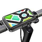 Soporte movil Patinete electrico Funda Impermeable Valida para telefonos moviles de hasta 7.2' de Pantalla Universal Compatible con Todas Las Marcas de Patinete electricos