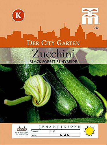 THOMPSON & MORGAN Zucchini Black Forest F1 Hybride K/schmackhaft, schnell wachsend