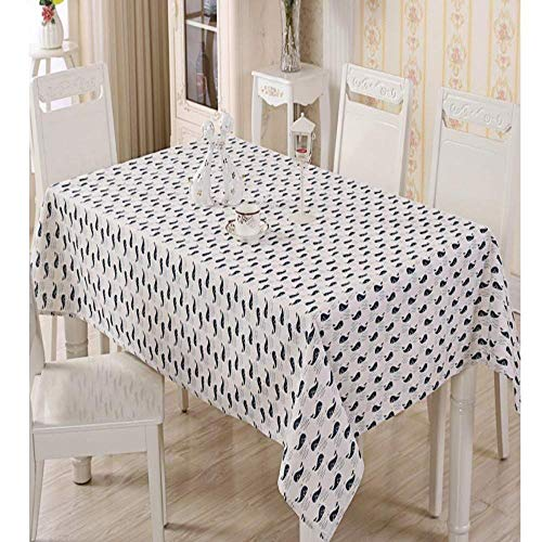 BH-JJSMGS, Küche rechteckige Tischdecke Antifouling wasserdicht waschbar Leinen Tischdecke, kreative Wal rechteckige Tischdecke Tischdecke 140 * 140cm